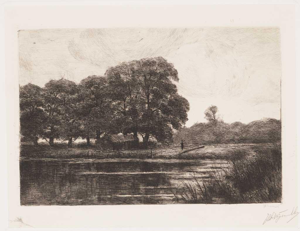 De Distel, etsen van Nederlandsche schilders, editie 1887 (afl. 10: Landschap bij Zutphen)