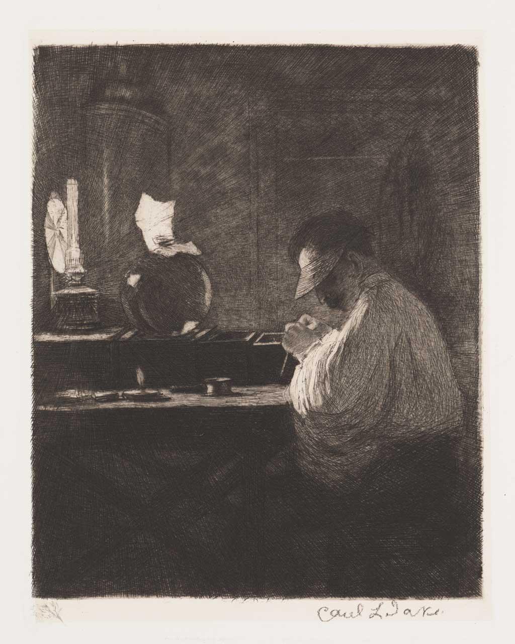 De Distel, etsen van Nederlandsche schilders, editie 1887 (afl. 11: De diamantklover)