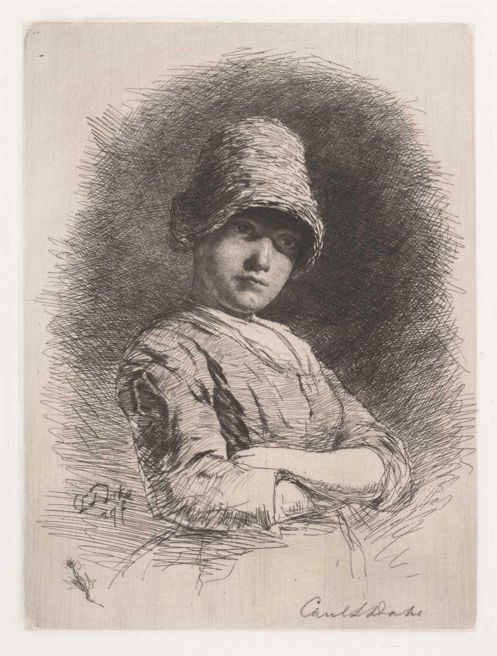 De Distel, etsen van Nederlandsche schilders, editie 1888 (afl. 4: Anneke)