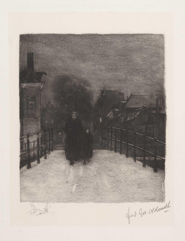 De Distel, etsen van Nederlandsche schilders, editie 1888 (afl. 5: Winteravond)