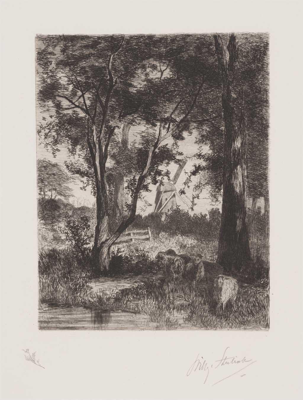 De Distel, etsen van Nederlandsche schilders, editie 1888 (afl. 9: Om Amsterdam)