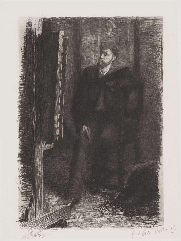 De Distel, etsen van Nederlandsche schilders, editie 1888 (afl. 10: Op 't Atelier)