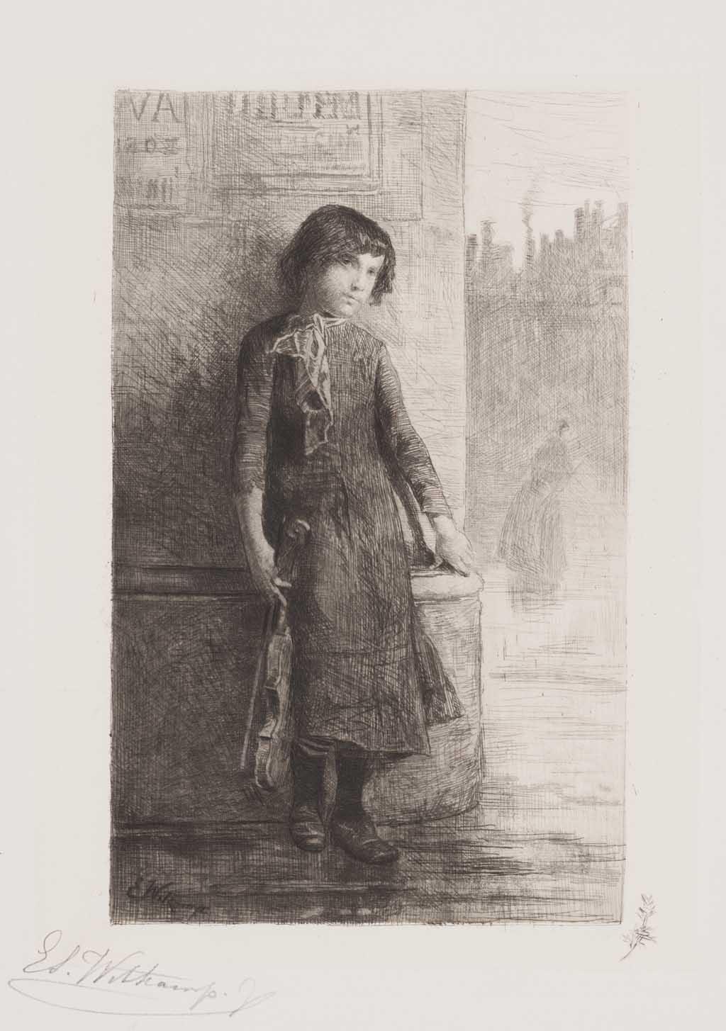 De Distel, etsen van Nederlandsche schilders, editie 1888 (afl. 11: Straatvirtuoos)