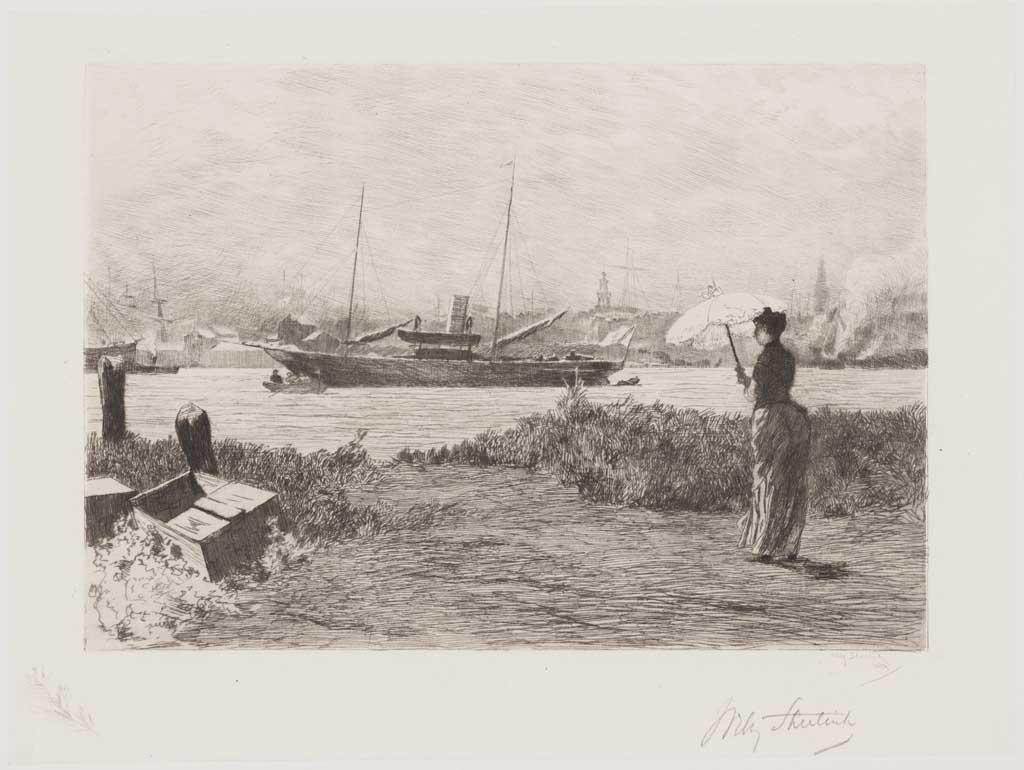 De Distel, etsen van Nederlandsche schilders, editie 1888 (afl. 12: Het jacht)