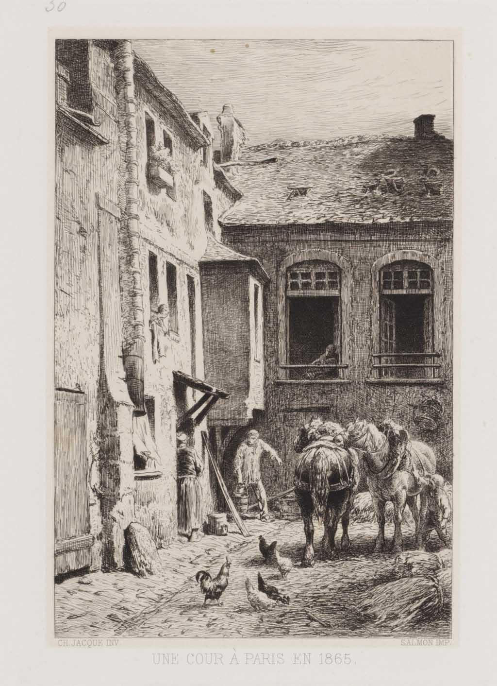 Une cour à paris en 1865