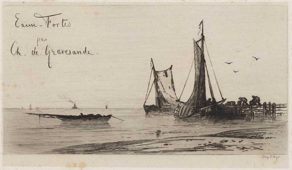 Papier met schepen (titelblad)