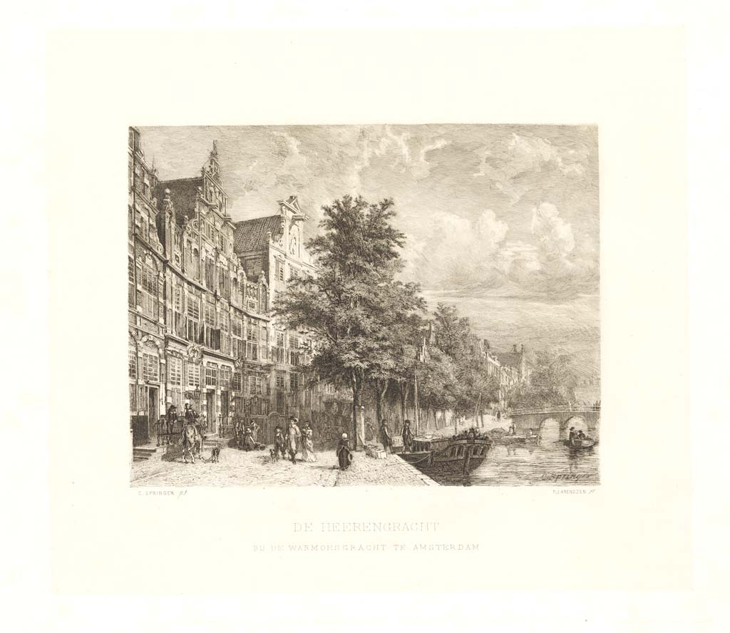 De Herengracht bij de Warmoesgracht te Amsterdam
