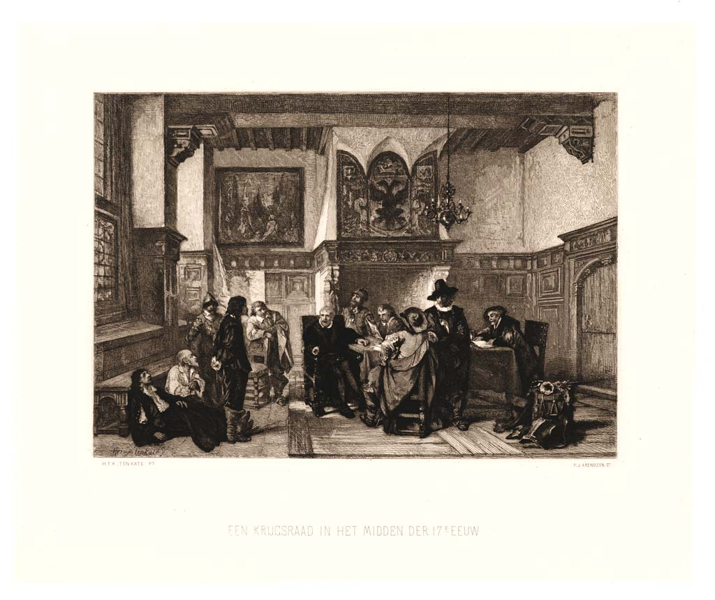 Het verhoor. Een krijgsraad in het midden der 17de eeuw