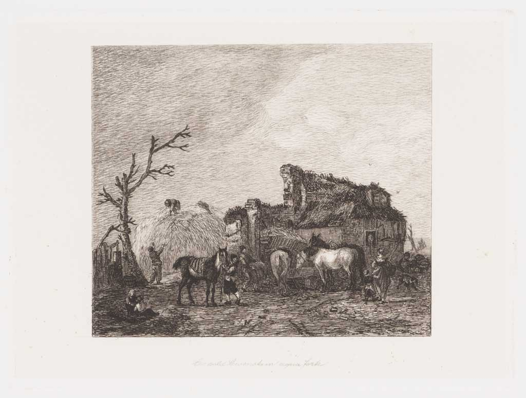 Landschap met ruïne