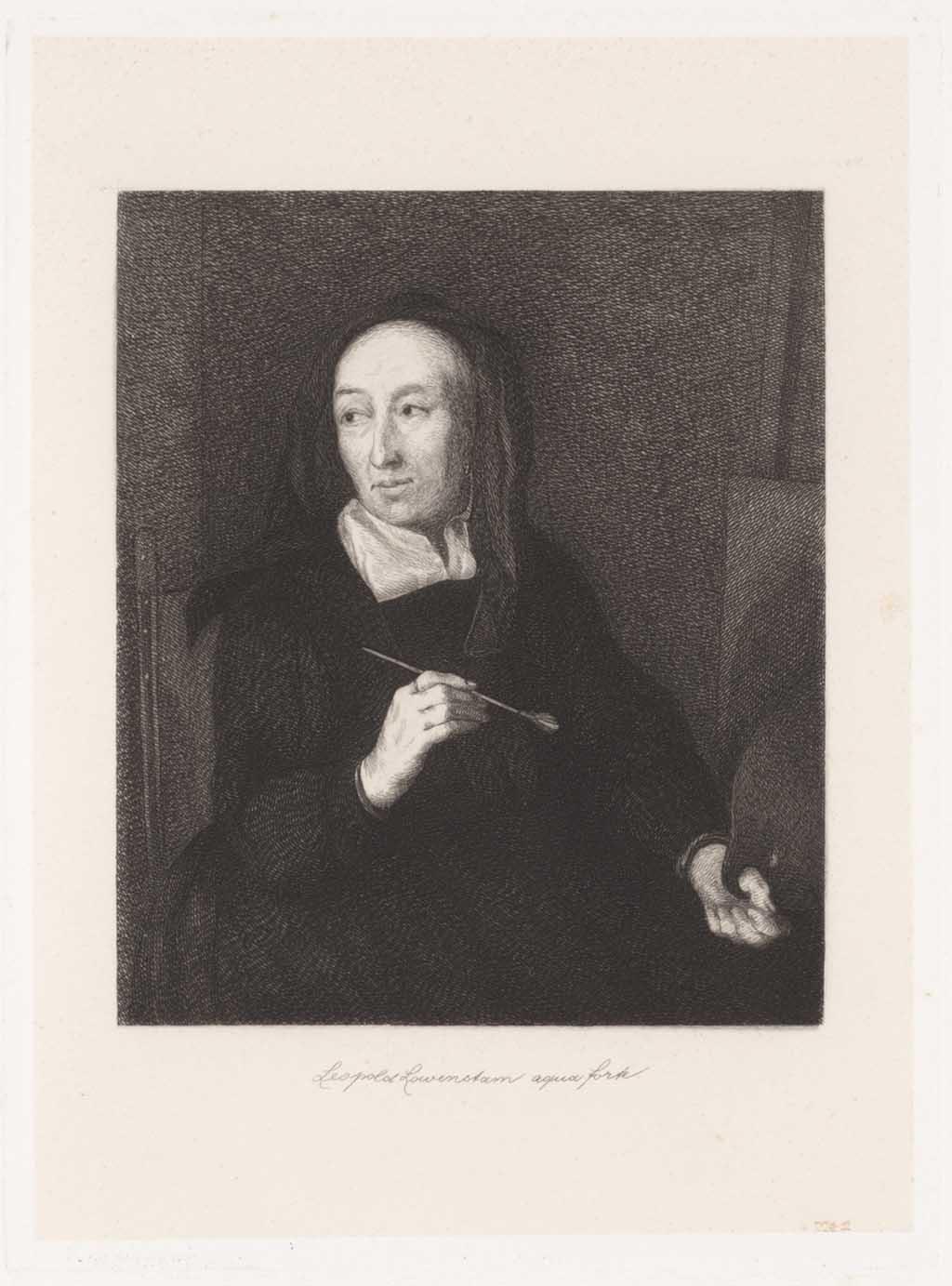 Portret van schilderes