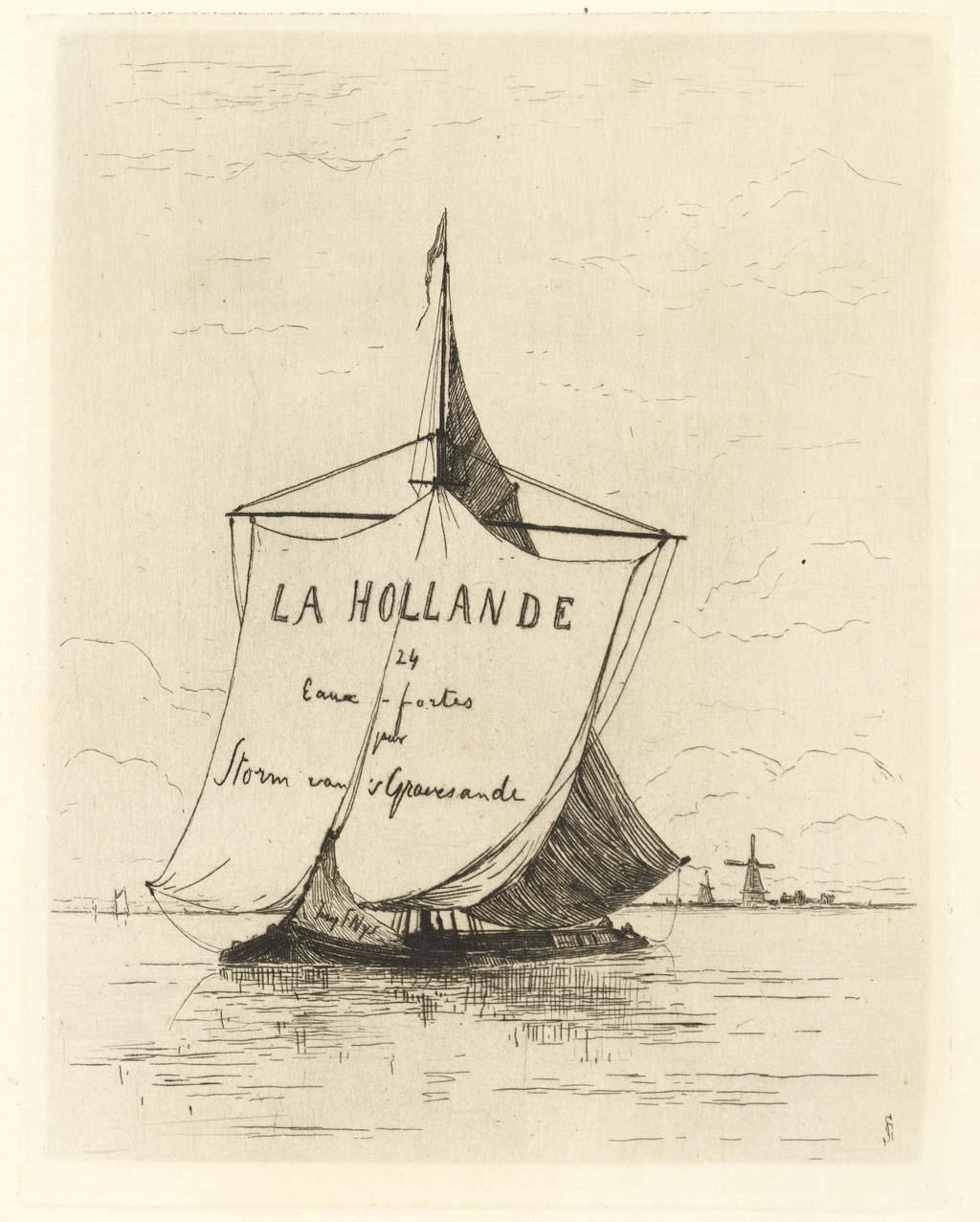 Album en 13 etsen 'La Hollande' door Storm van 's-Gravensande'