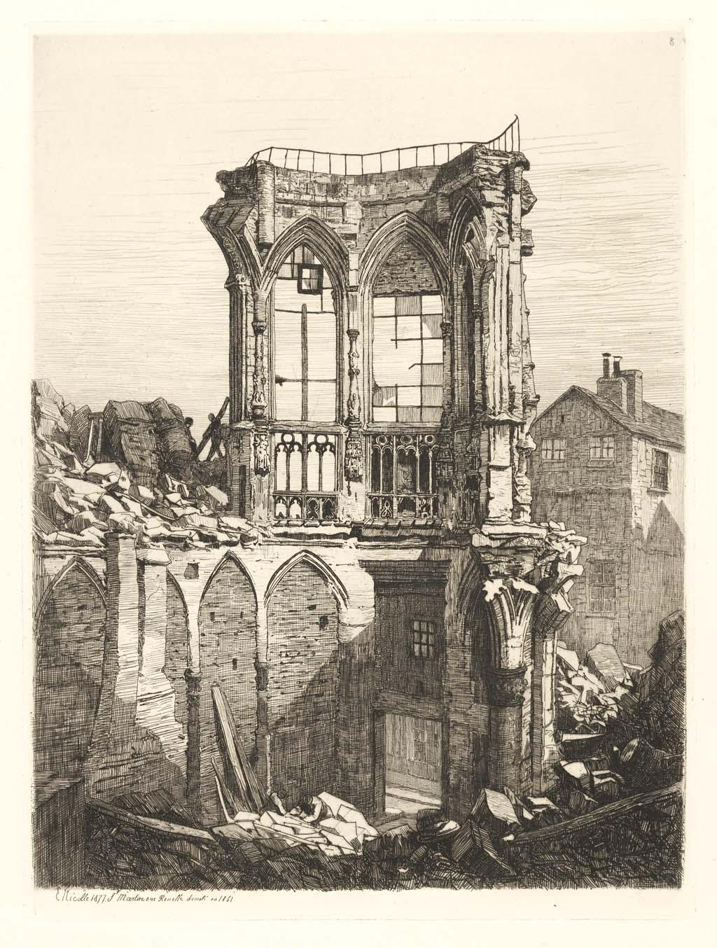 Église de St. Martin sur renelle (démolie en 1861)