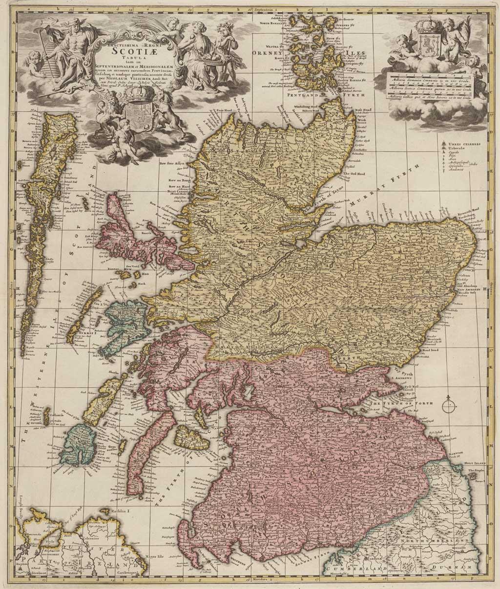 Kaart van Schotland
