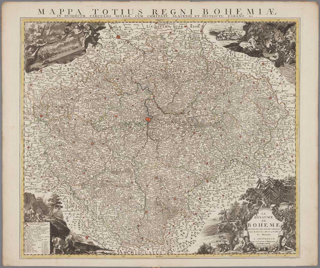 Le royaume de Boheme divisée en ses douze cercles