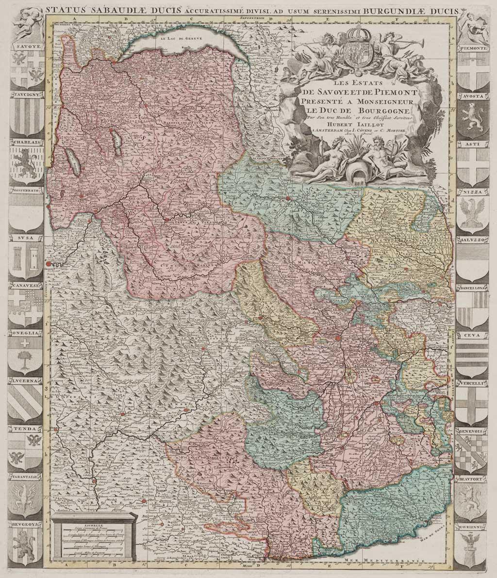 Les estats de Savoye et de Piemont presenté a monseigneur le duc de Bourgogne