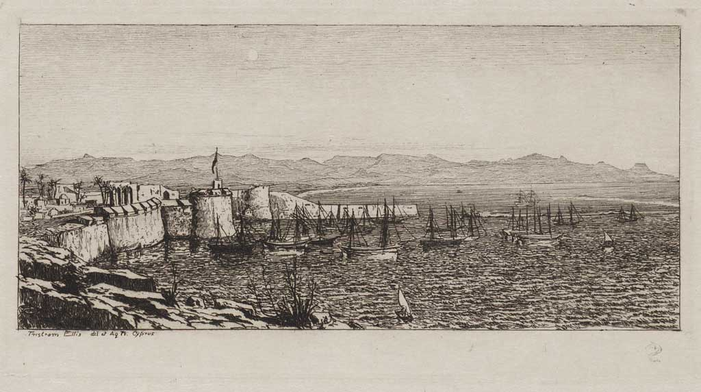 Gezicht op haven te Cyprus