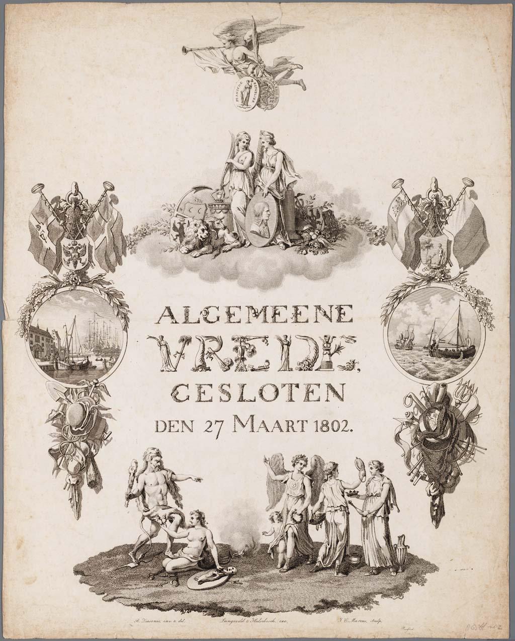 Algemeene vrede gesloten den 27 maart 1802