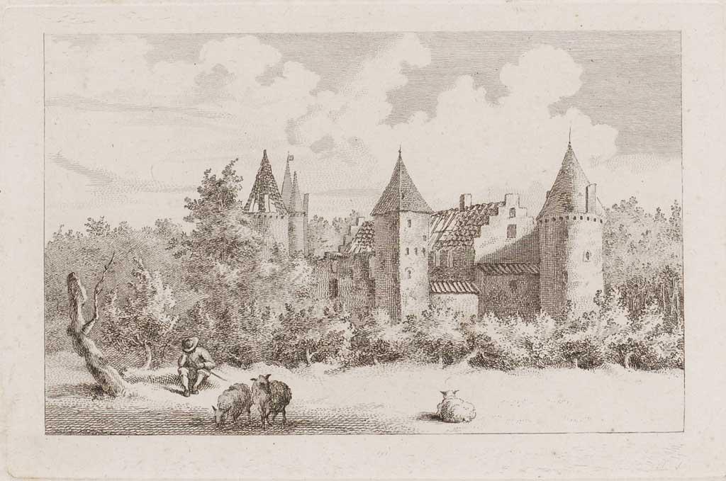 Het huis Ter Haer bij Vleuten 1790