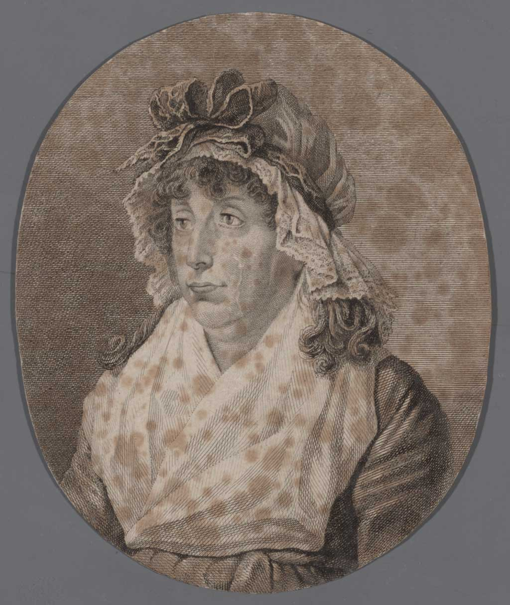 Portret van Anna Maria Facmay geb. Scharff