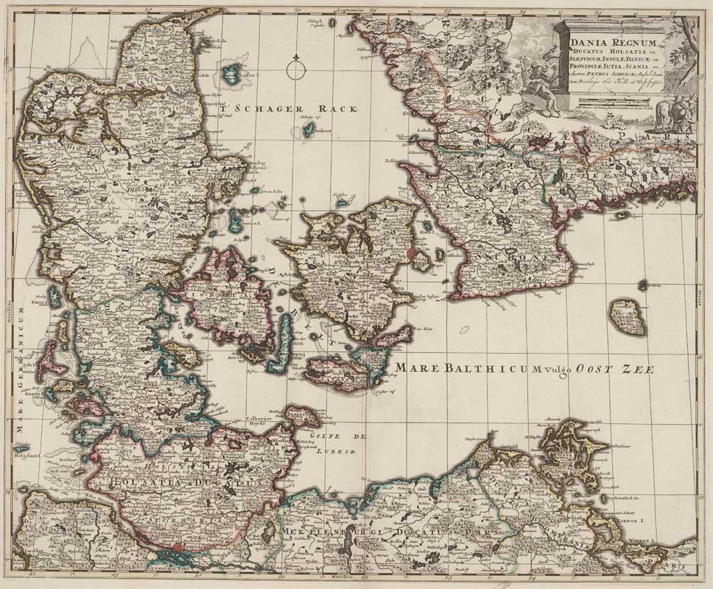 Dania regnum, ducatus Holsatia et Slesvicum, insulae Danicae et provinciae Iutia, Scania etc.