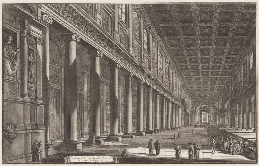 Veduta interna della Basillica di S. Maria Maggiore