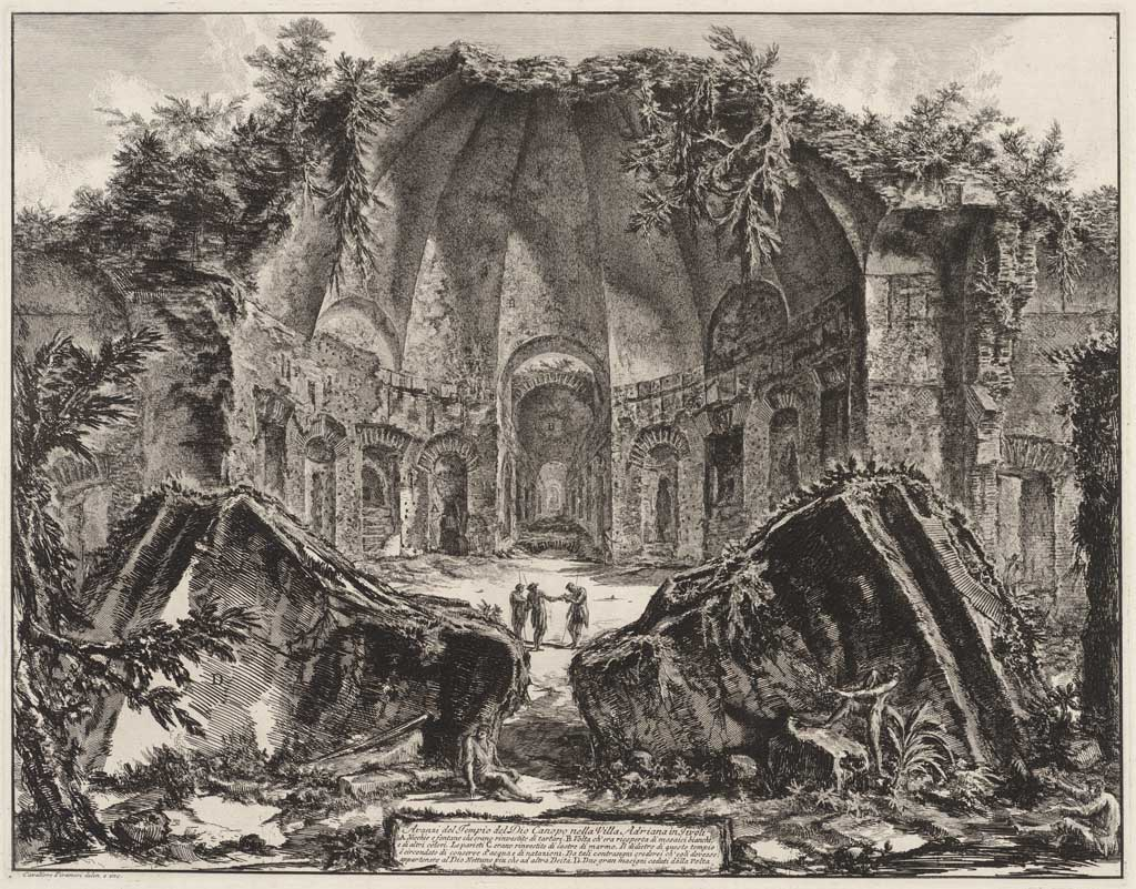 Avanzi del Tempio del Dio Canopo nella Villa Adriana in Tivoli