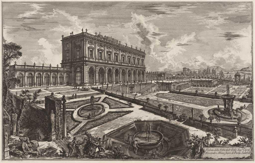 Veduta della Villa dell´Emo Sig.n Card. Alesandro Albani fuori di Porta Salaria
