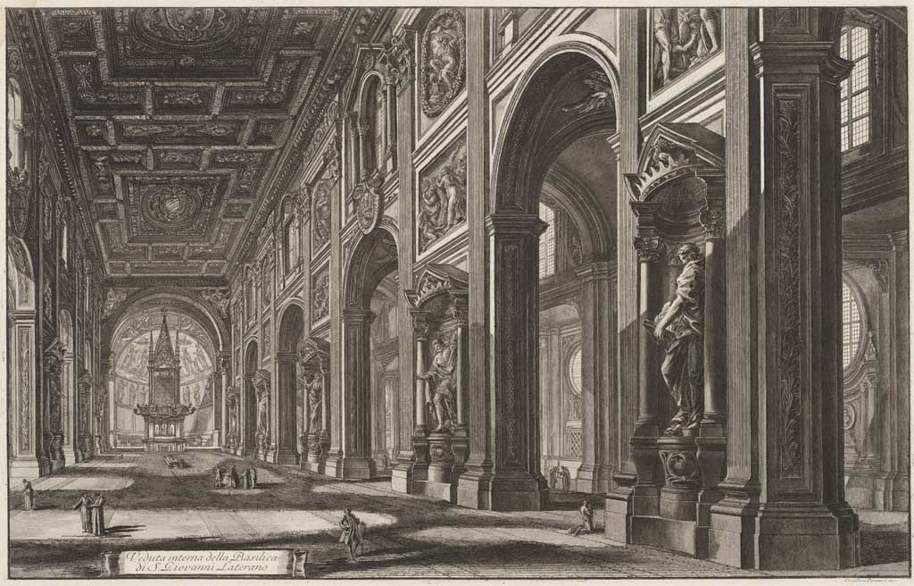 Veduta interna della Basilica di S. Giovanni Laterano