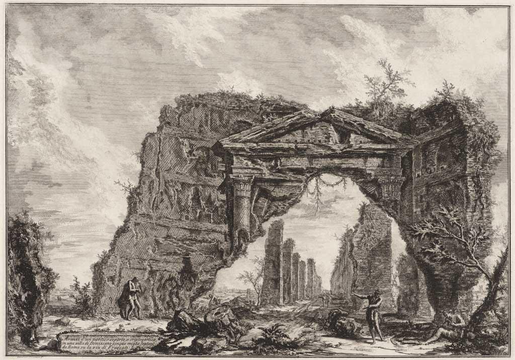 Avanzi d'un portico coperto, a criptoportico in una villa Domiziano cinque miglia lantane da Roma su la via di Frascati