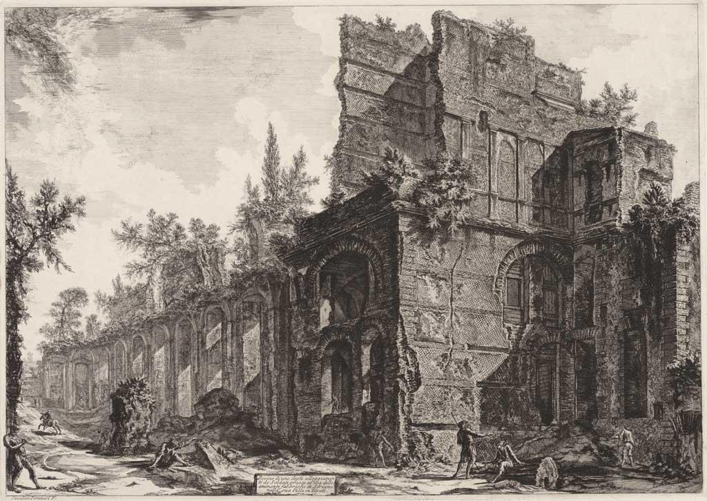 Rovino di uno degti alloggiamenti de Soldati passo ad una delle eminenti Fabbriche d'Adriano nella sua villa in Tivoli