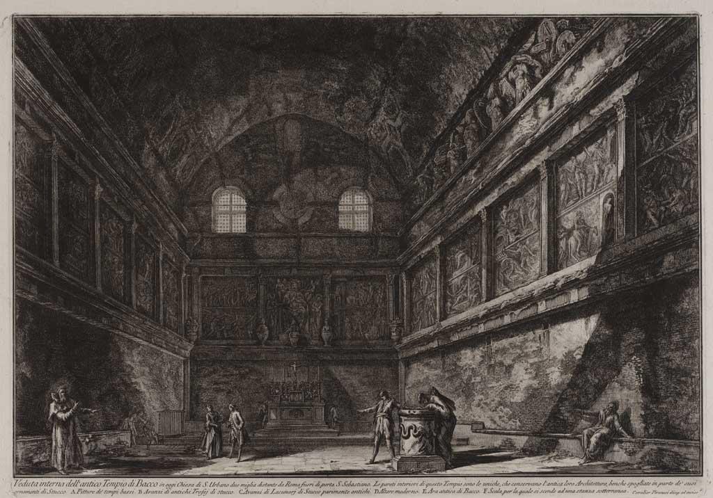 Veduta interna dell'antico Tempio di Bacoo