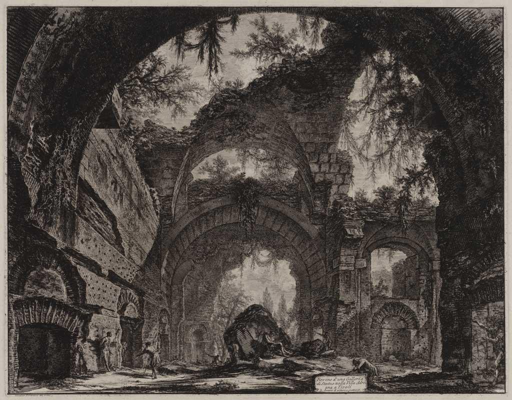 Rovine d'una Galleria di Statua nella Villa Adriana a Tivoli