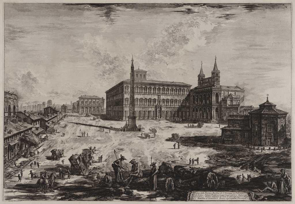 Veduta della Piazza, e Basilica di S. Giovanni in Laterano