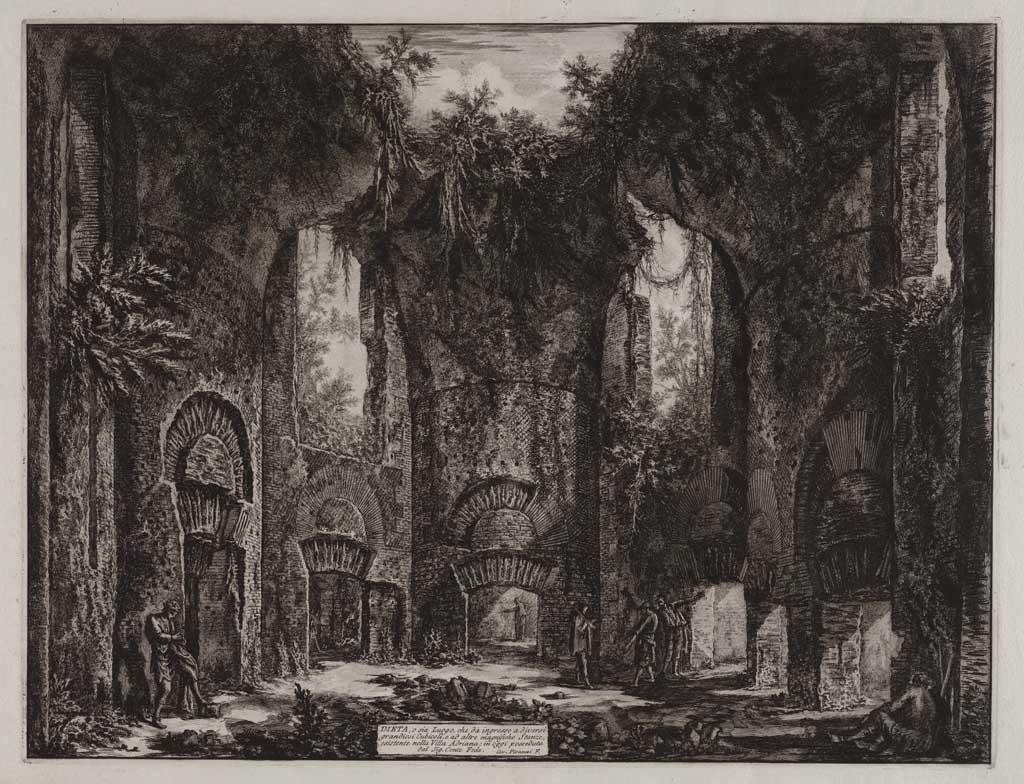 Dieta, o sia Luogo, che da ingresso a diversi grandiosi Cubicoli, e ad altre magnifiche stanzi, esistente nella Villa Adriana; in oggi posseduta del Sig. Cente Fede