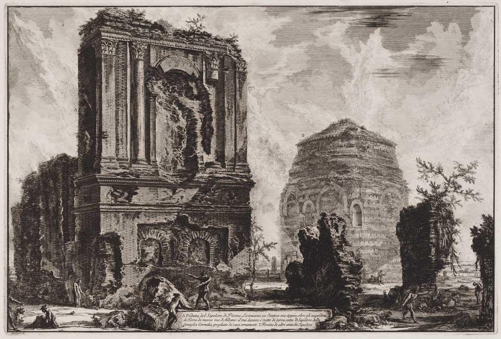 Veduta del Sepotero di Pisone Liciniano su l'antica via Appia