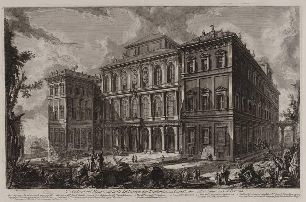 Veduta sul Monte Quirinale del Palazzo dell'Eccellentissima Casa Barberini