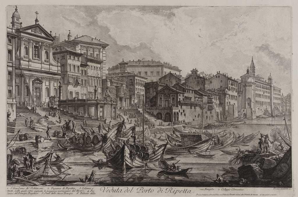 Veduta del Porto di Ripeta