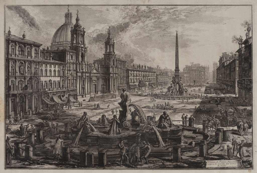 Veduta di Piazza Navona sopra le rovine del Circo Agonate