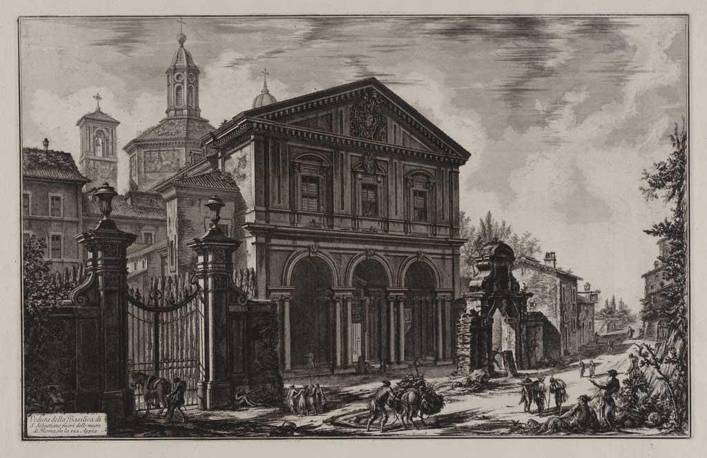 Veduta della Basilica di S. Sebastiano fuori della mura di Roma, su la via Appia