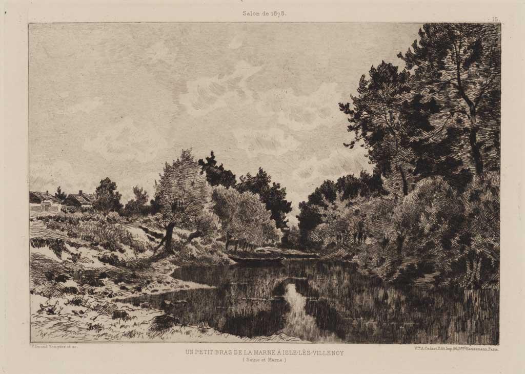 Un petit bras de la Marne à Isle-les-Villenoy (Seine et Marne)