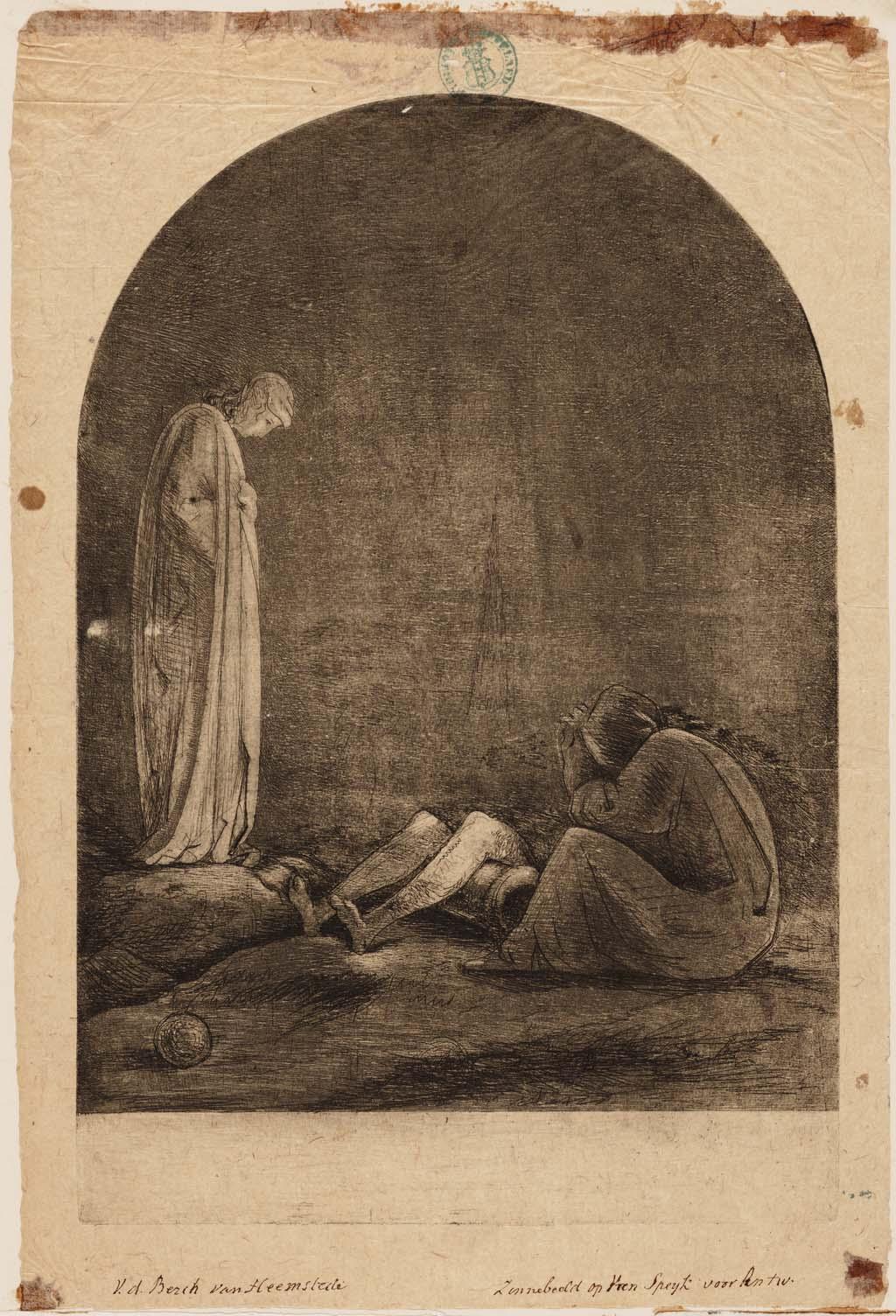 Zinneprent op J.C.J. van Speyk's (1802-1831) Heldenfeit.