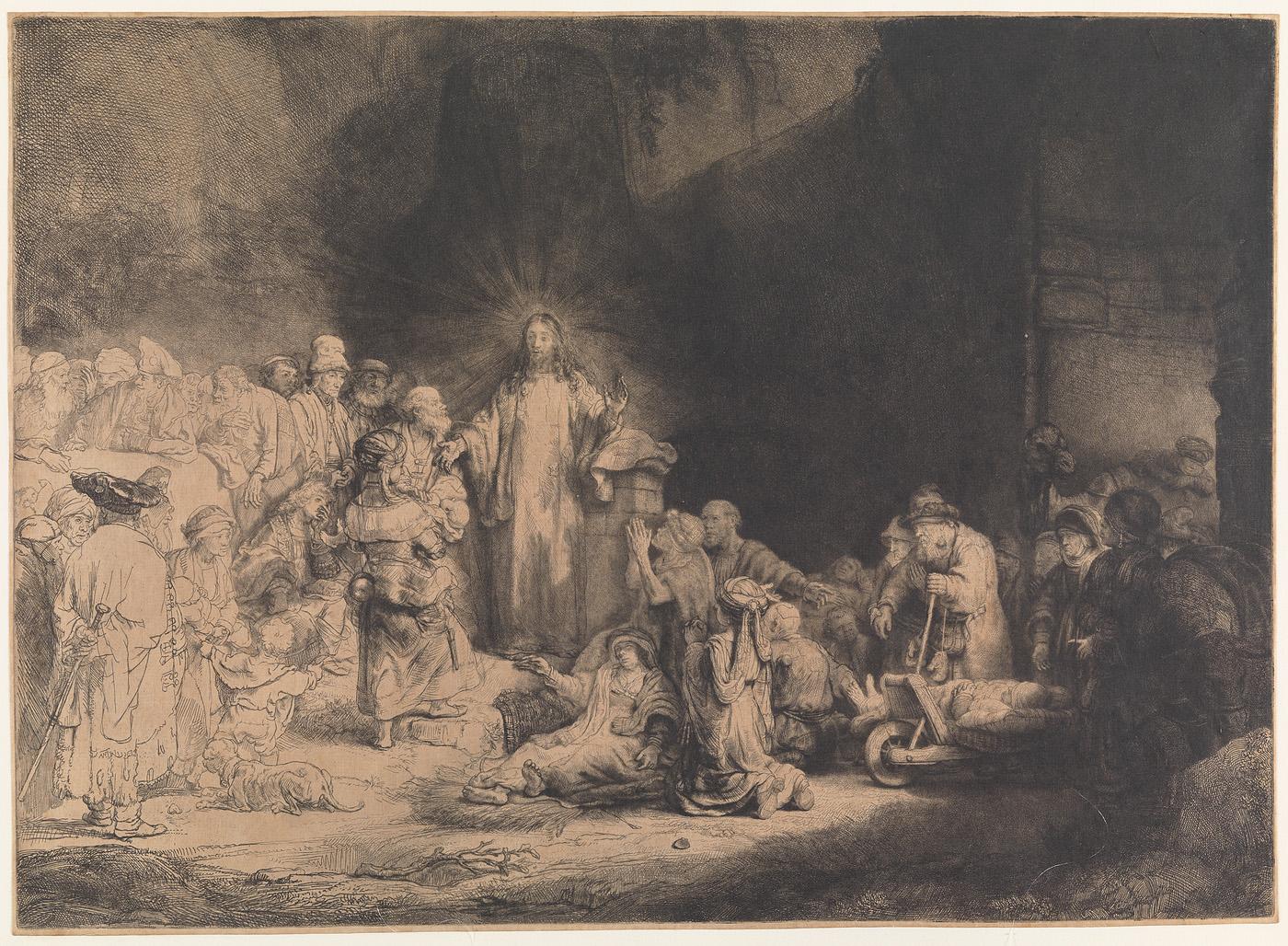 De predikende Christus (De Honderdguldenprent)