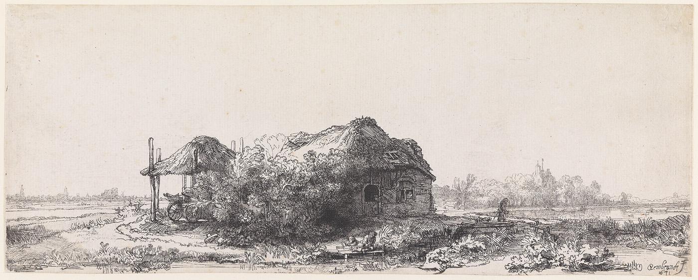 De hut en de hooischelf