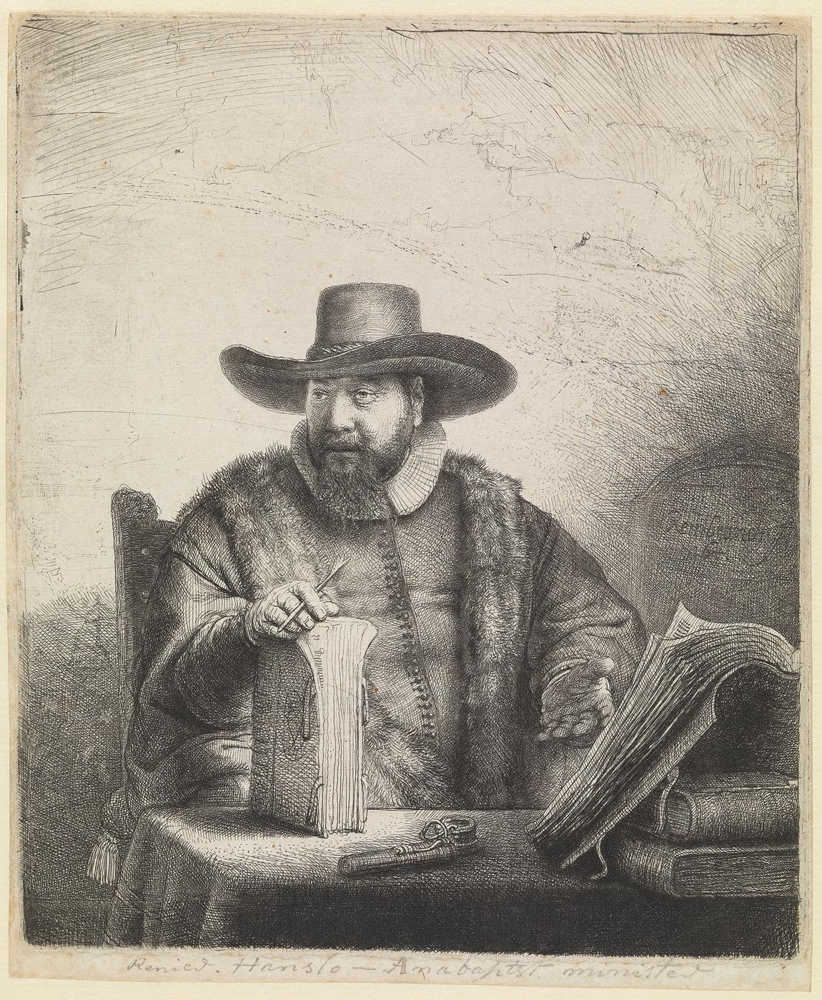 Portret van Cornelis Claesz Anslo