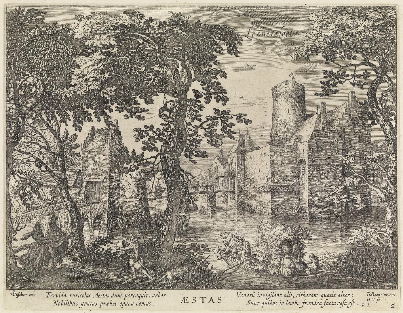 Loenersloot, aestas (uit de serie: de jaargetijden. gezichten op kastelen)