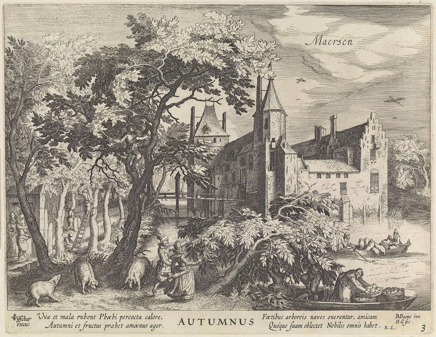 Maersen, Autumnus (uit de serie: de jaargetijden. gezichten op kastelen)