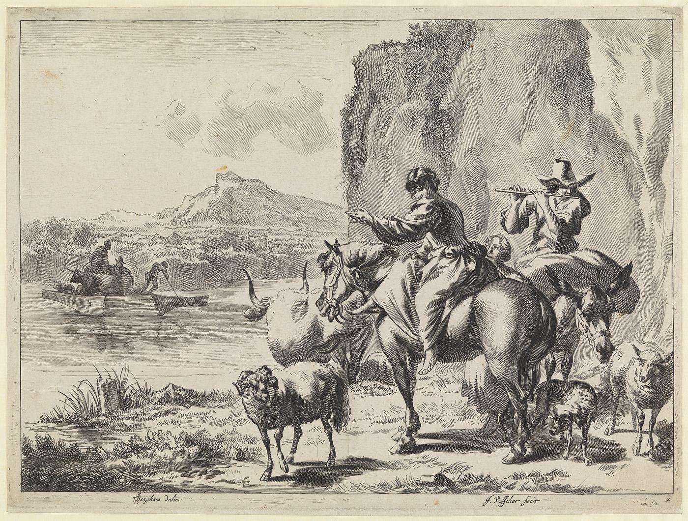 Bij de pont (nr. 2 uit de serie: Pastorale landschappen)
