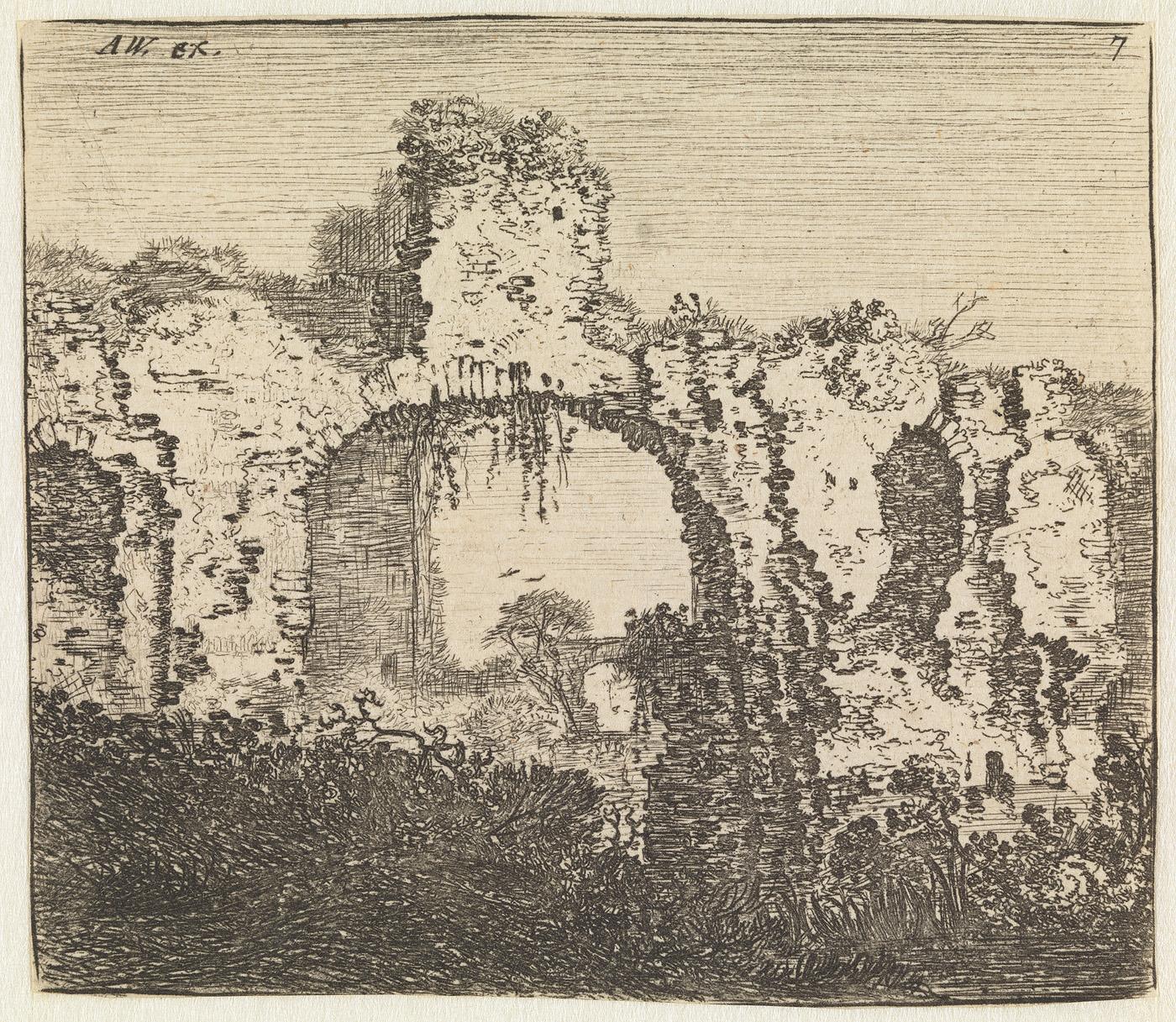 De ruïne van een gebouw