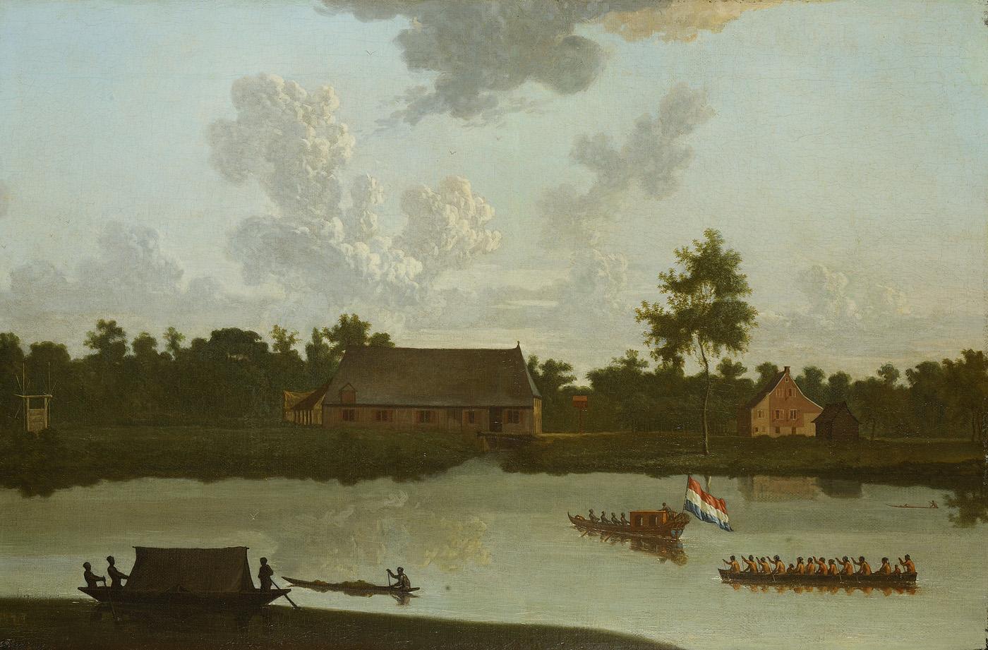 Plantage van Jonas Witsen aan de Surinamerivier