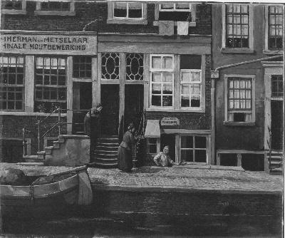 Huizen aan de Lijnbaansgracht no. 74-76